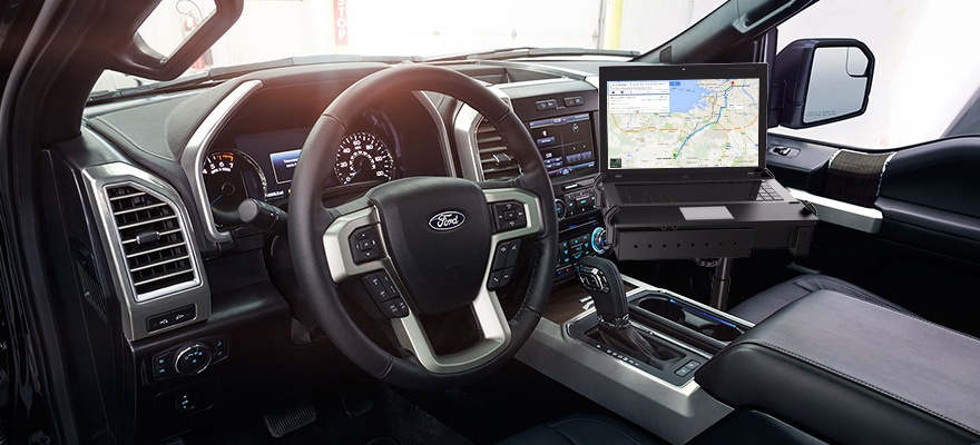 No Drill Laptop Mount For The 2015 Ford F 150 Ram