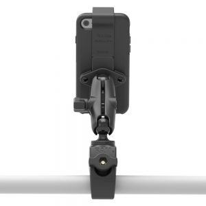 Back of phone with Tough-Claw™ Rail Mount