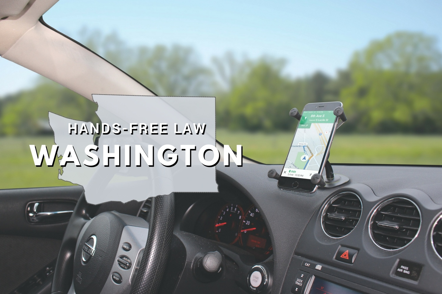 Washington Hands-Free Law: Where to Mount Your Phone in Your Car
