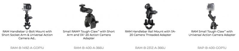 RAM Mounts Camera Mounts for Motorcycles