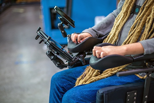 Phone and tablet wheelchair mounting solutions