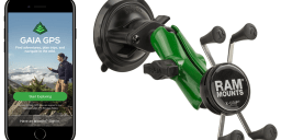 Gaia GPS Holiday Giveaway: Enter to Win a Special Limited Edition Green RAM<small><sup>®</sup></small> X-Grip<small><sup>®</sup></small>