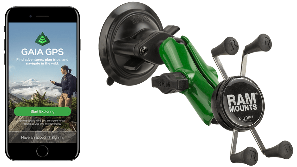 Gaia GPS Holiday Giveaway: Enter to Win a Special Limited Edition Green RAM® X-Grip®