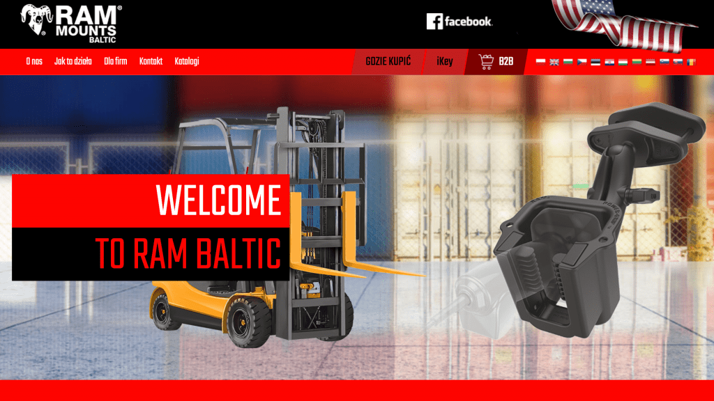RAM® Mounts Baltic homepage