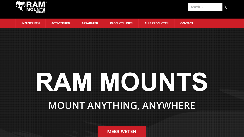 RAM® Mounts Benelux homepage