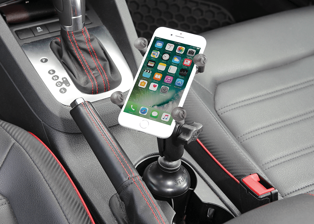 RAM Stubby cup holder base with RAM X-Grip