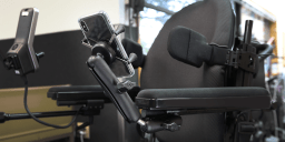 Mount of the Month: Wheelchair Mounts for Seat and Armrest Tracks