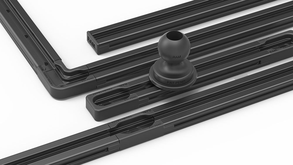 Mount Of The Month Modular Black Anodized Aluminum Ram Tough Track