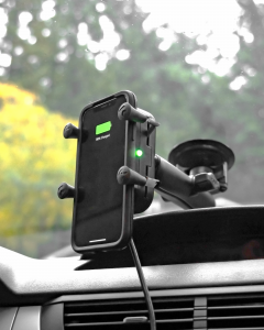 RAM Mounts Tough-Charge with X-Grip Technology in-vehicle
