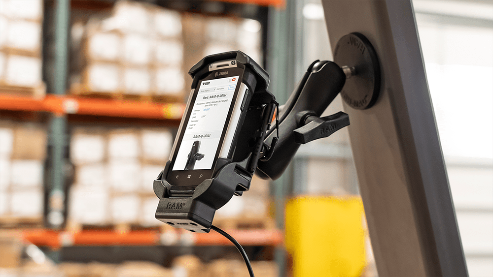 Mount of the Month: Powered Cradles for Rugged Honeywell, Panasonic, Samsung, and Zebra Devices