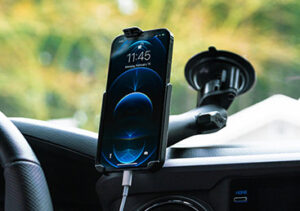 RAM® Form-Fit Cradle for Apple iPhone 12 Pro in vehicle