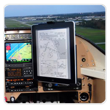 iPad Mounted in RV-6 Airplane