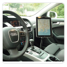 iPad Mounted with RAM POD I in Audi