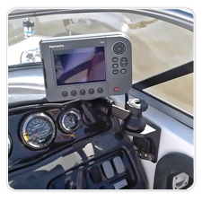 Raymarine A70D Mounted to Yamaha SX230 Boat