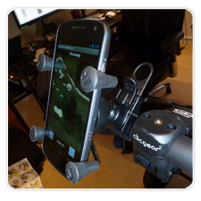 Pic/Install/Review of RAM Cell/GPS Mount on ClicGear 3.0 Push Cart