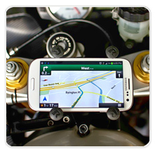 Universal X-Grip Smartphone Holder with Fork Stem Mount for Kawasaki 636