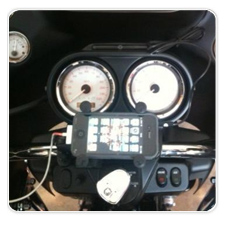 iPhone Mounted with X-Grip Rail Mount on 2012 Road Glide