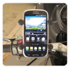 New Phone Mount + New Phone on 09 BMW K1300GT
