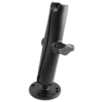 "RAM 1"" Diameter Ball Long Length Double Socket Arm with 2.5"" Round Base"