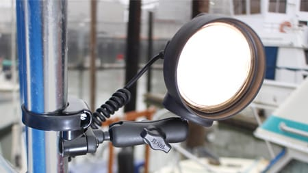 LED Spotlight mounted on pole