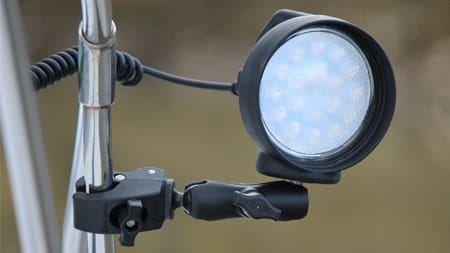 LED Spotlight mounted on a different pole