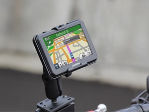 GPS mounted on Motorcycle