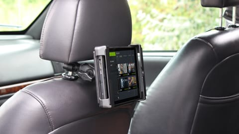 Torque base on head rest with Tablet