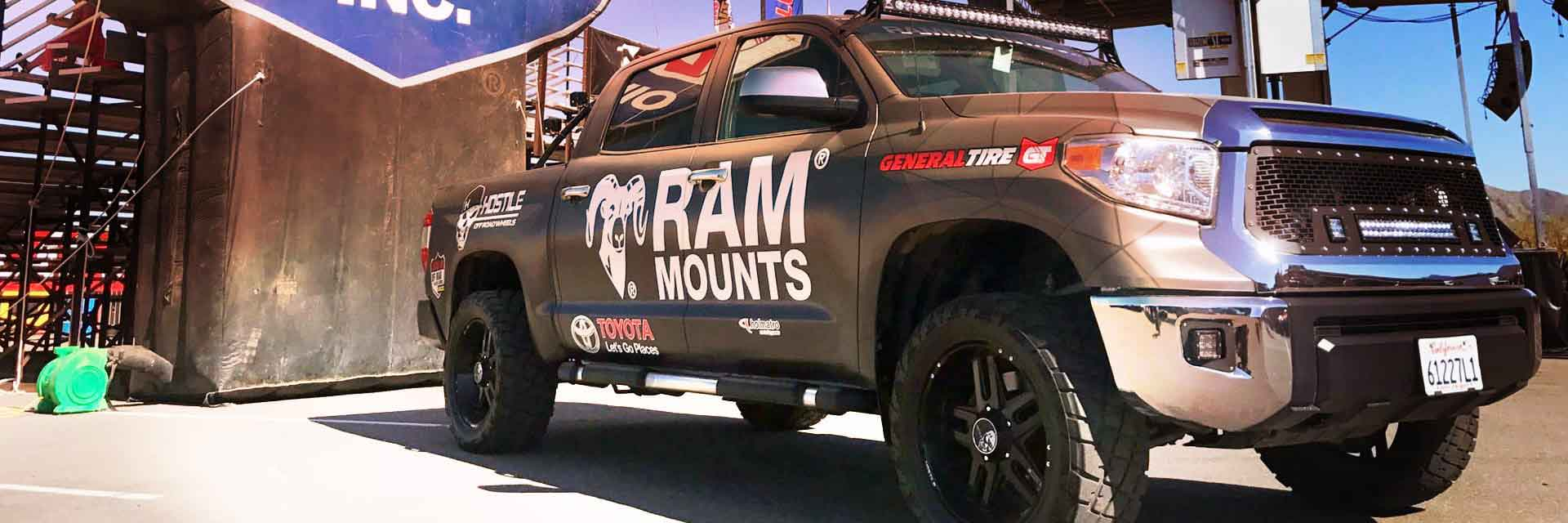 Truck with RAM® Mounts Logo