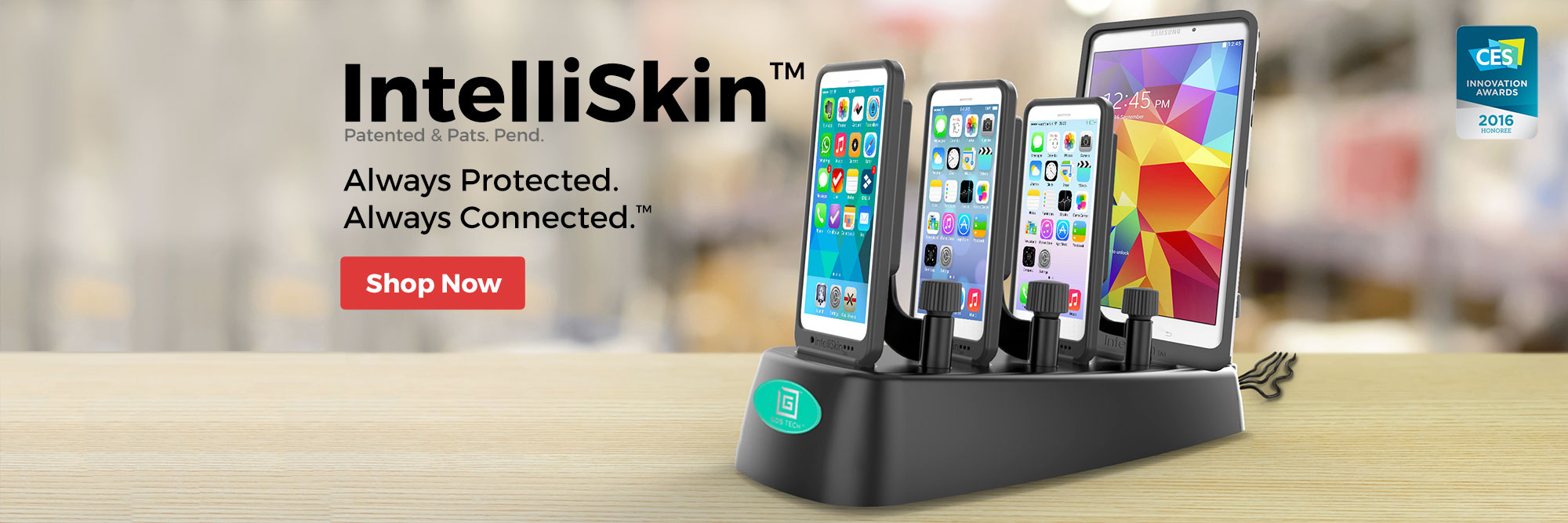 Intelliskin Cases with GDS Docks