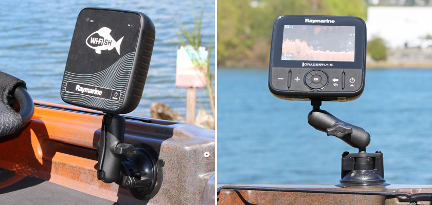 Raymarine Dragonfly 4, 5 & WiFish Mounting Solutions | RAM Mounts