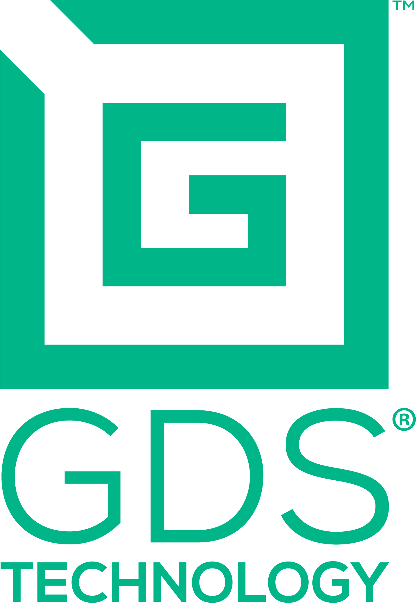 GDS® Technology™ logo as a green G inside a square with top left corner open