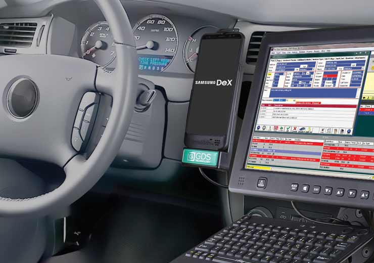 IntelliSkin® and GDS® Technology™ with a phone mounted in a vehicle