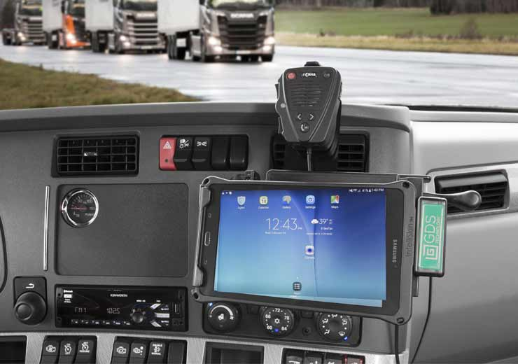 IntelliSkin® and GDS® Technology™ with a tablet mounted in vehicle