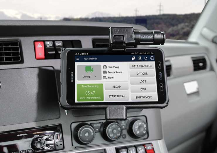 ELD mounting solution in vehicle