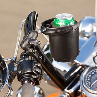RAM® Level Cup™ on motorcycle