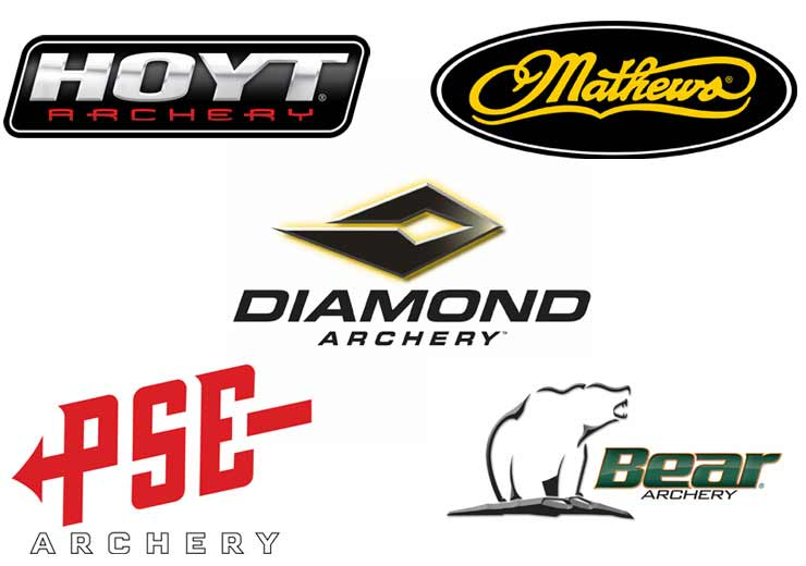 Hoyt, Matthews, Bear, PSE, and Diamond Logos
