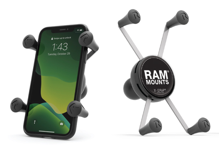 RAM® X-Grip® and RAM® X-Grip® with a phone
