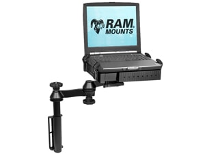 Drill down mount system with laptop