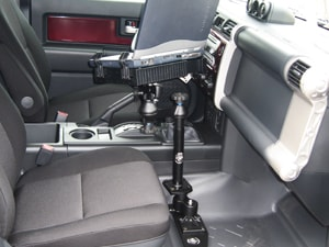 full view of tele-pole in vehicle