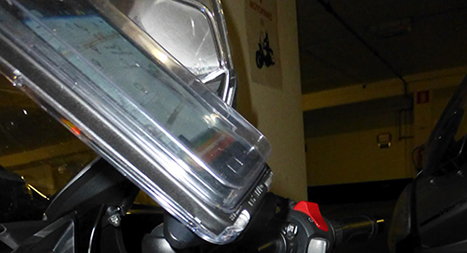 Aqua Box on motorcycle