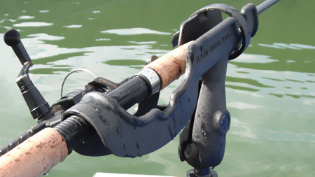 close up of fishing rod in Ram-Rod