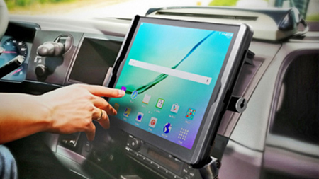 Samsung tablet in Tab-Lock in vehicle