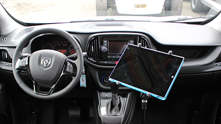 Microsoft Surface in X-Grip mounted in car