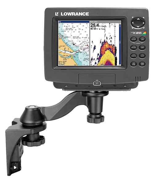 Fish Finder on RAM swing arm Mount