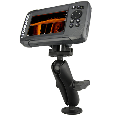 RAM-101-LO12 - RAM Double Ball Mount for Lowrance Hook² & Reveal Series