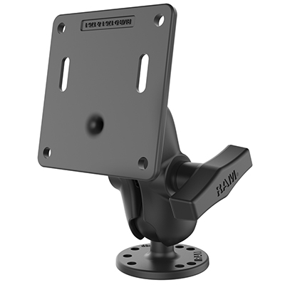 RAM-101U-B-2461 - RAM Double Ball Mount with 75x75mm VESA Plate