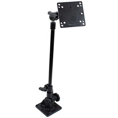 "RAM-101U-GP1 - RAM Pedestal Mount with 18"" Pipe and 100x100mm VESA Plate"
