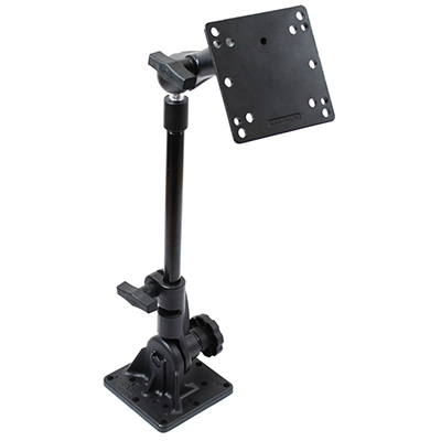"RAM-101U-VE14 - RAM Pedestal Mount with 12"" Pipe and 75x75mm VESA Plate"