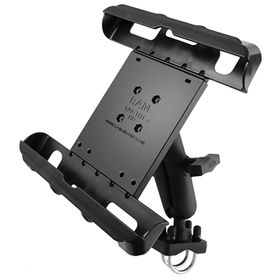RAM-138-235-TAB17U - RAM Tab-Tite Large Tablet Holder with Double U-Bolt Mount
