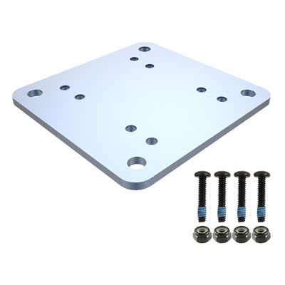"RAM-202-225BU - RAM 3"" X 3"" BACKING PLATE W/ HARDWARE"